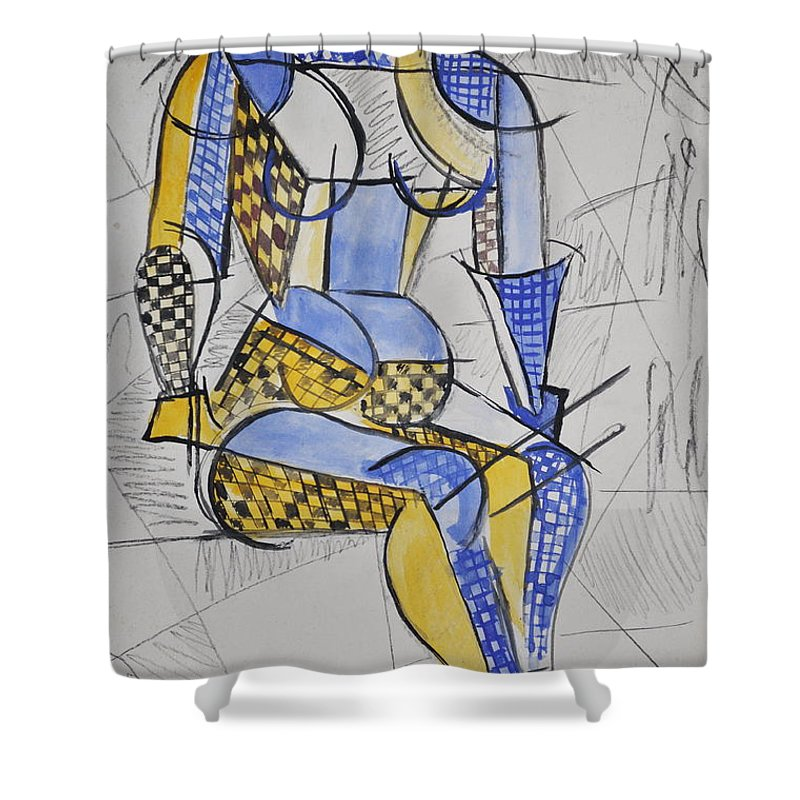 Cubist Shower Curtain featuring the photograph Cubist Expression by Andrea Kollo