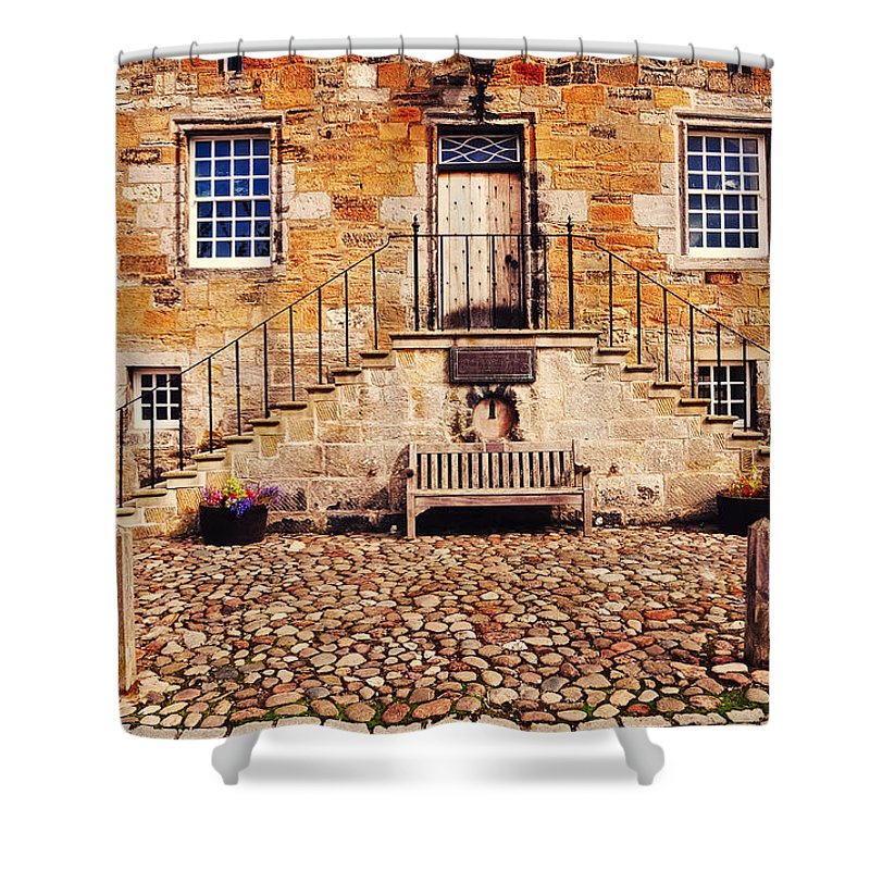 Scotland Shower Curtain featuring the photograph Culross Sketches 1 Scotland by Jenny Rainbow