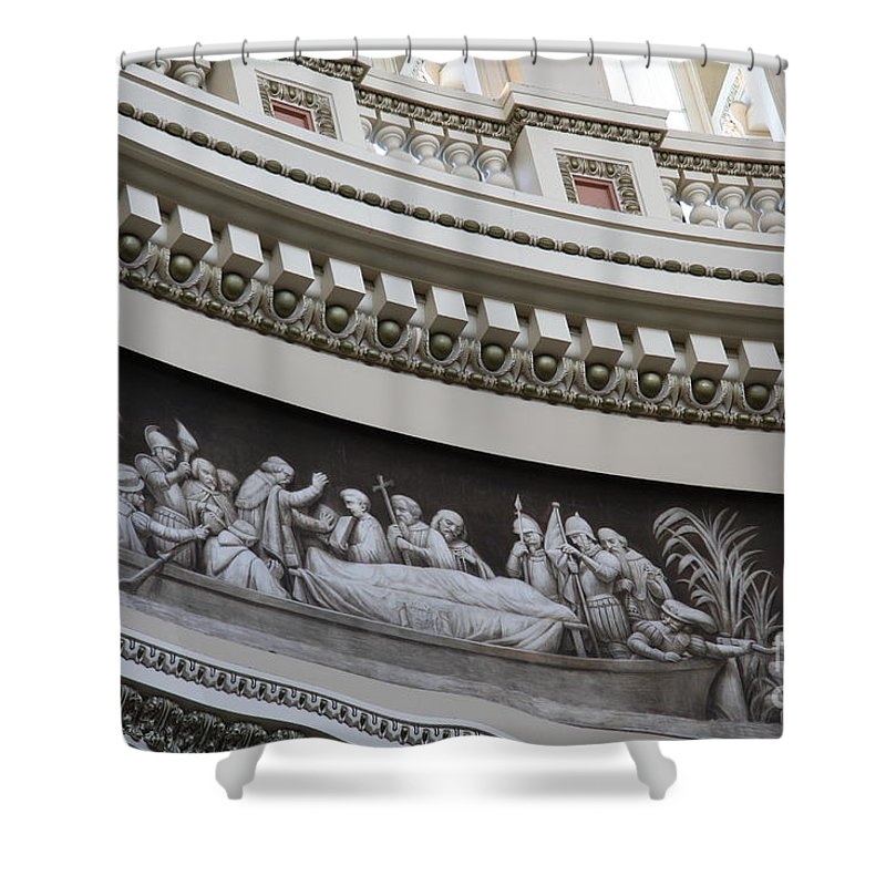 Cupola Shower Curtain featuring the photograph Cupola Border - Capitol Washington Dc by Christiane Schulze Art And Photography
