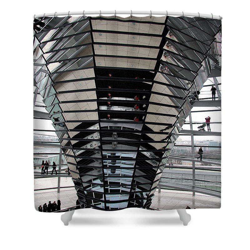Cupola Shower Curtain featuring the photograph Cupola Reichstag Building II by Christiane Schulze Art And Photography
