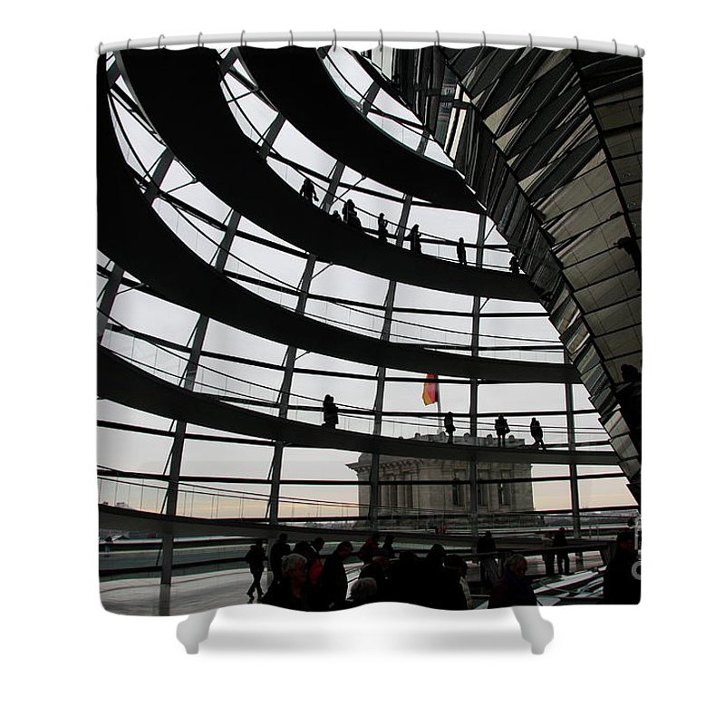 Cupola Shower Curtain featuring the photograph Cupola Reichstags Building Berlin by Christiane Schulze Art And Photography