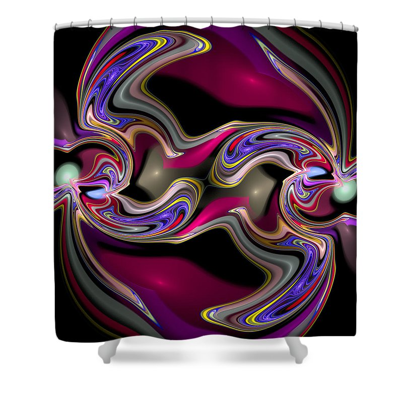 Curve Shower Curtain featuring the digital art Curbisme-56 by RochVanh