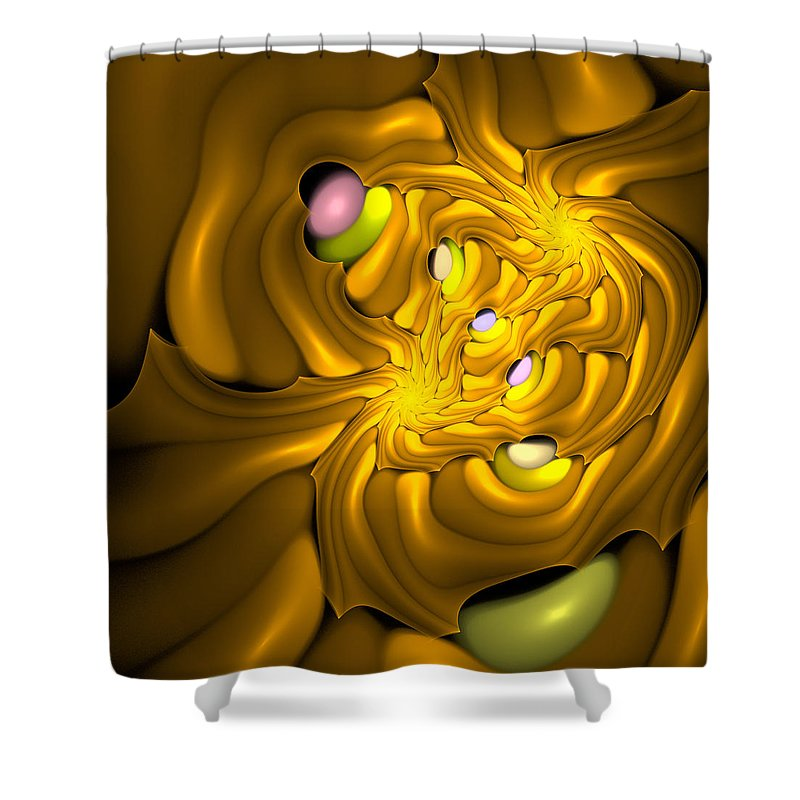 Curve Shower Curtain featuring the digital art Curbisme-96 by RochVanh