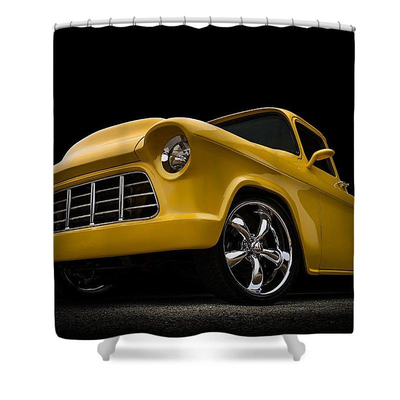 Pickup Shower Curtain featuring the digital art Cut '55 by Douglas Pittman