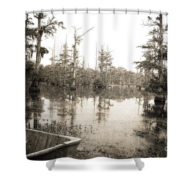 Swamp Shower Curtain featuring the photograph Cypress Swamp by Scott Pellegrin