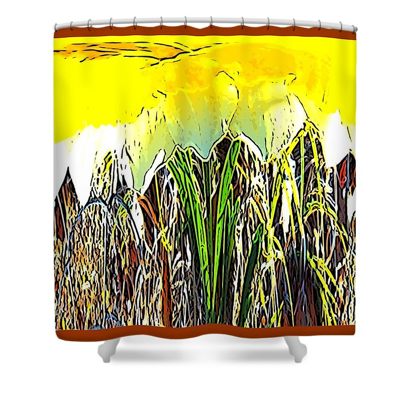 Digital Art Shower Curtain featuring the photograph Daffy Two by Marian Bell