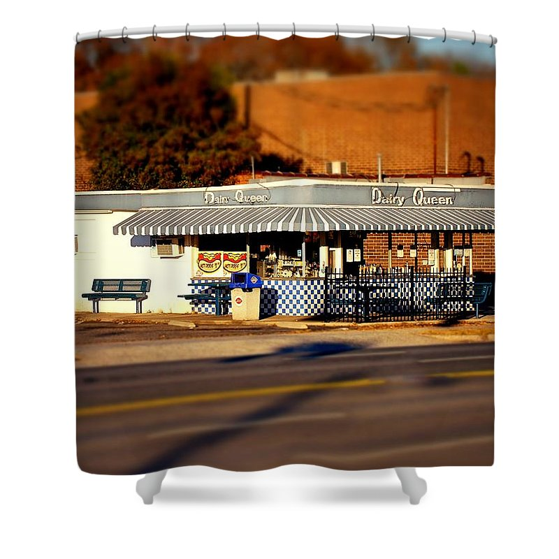 Fine Art Shower Curtain featuring the photograph Dairy Queen by Rodney Lee Williams