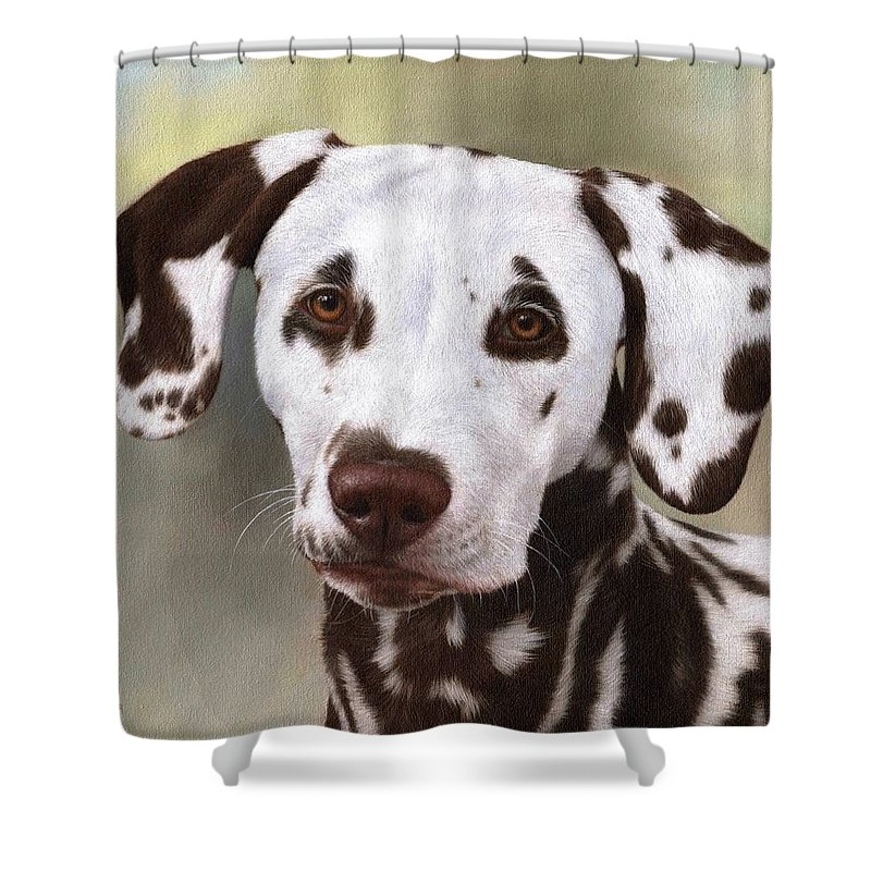 Dalmatian Painting Shower Curtain For Sale By Rachel Stribbling