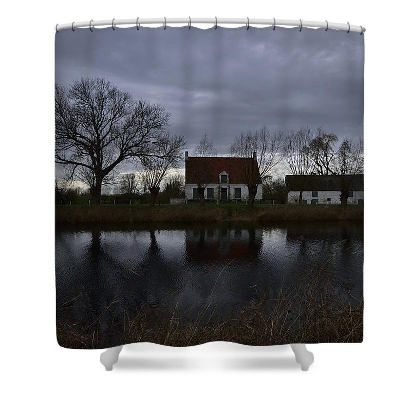 Rain Shower Curtain featuring the photograph Damme by TouTouke A Y