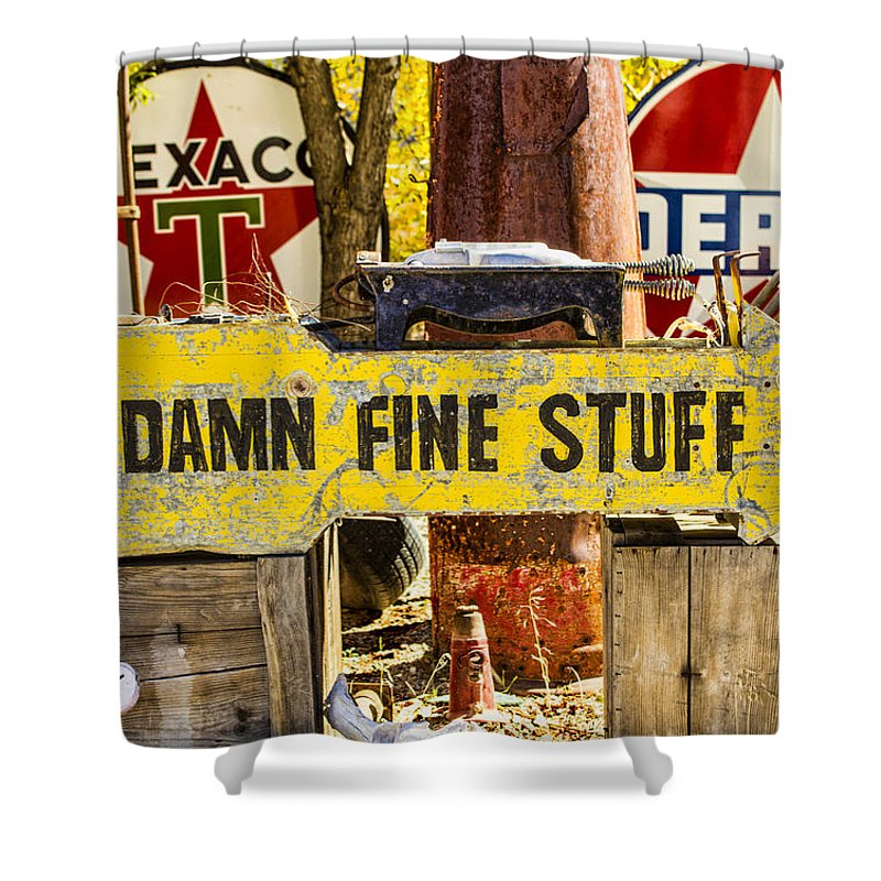 Southwest Shower Curtain featuring the photograph Damn Fine Stuff by Brian King