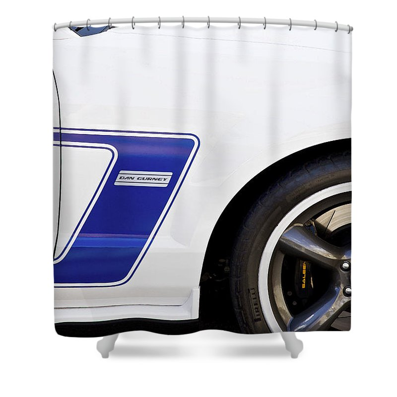 Dan Gurney Shower Curtain featuring the photograph Dan Gurney 2009 Ford Mustang by Rich Franco
