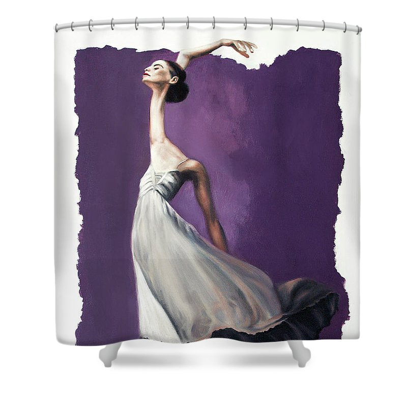 Dance For Him Framed Prints Shower Curtain featuring the painting Dance For Him by Anthony Falbo