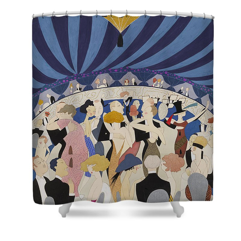 Anne Harriet Fish Shower Curtain featuring the digital art Dancing Couples by Georgia Fowler