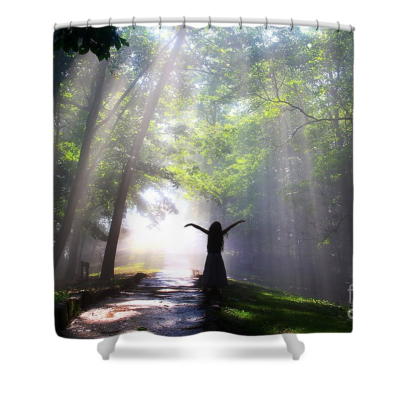 Sunrise Shower Curtain featuring the photograph Dancing In God's Light Copyright Willadawn Photography by Melissa Petrey