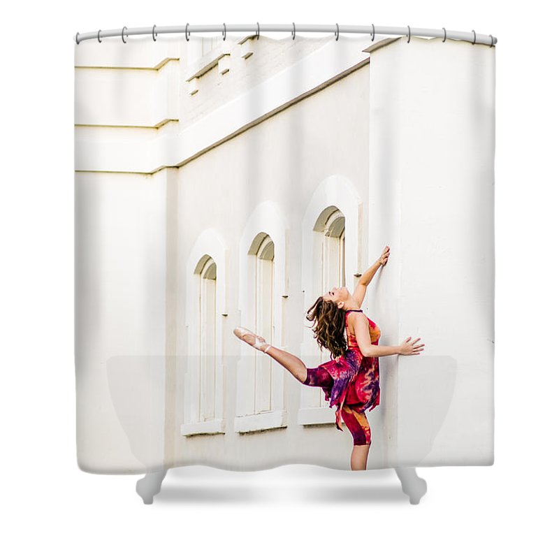 Durham Shower Curtain featuring the photograph Dancing In The Streets by Jh Photos