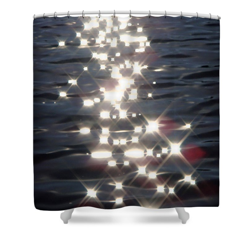 Water Shower Curtain featuring the photograph Dancing With The Stars by Donna Blackhall