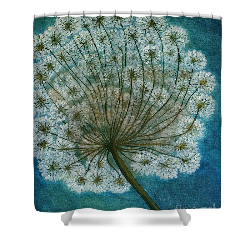 Dandelion Shower Curtain featuring the painting Dandelion Painting   Sold by Christiane Schulze Art And Photography