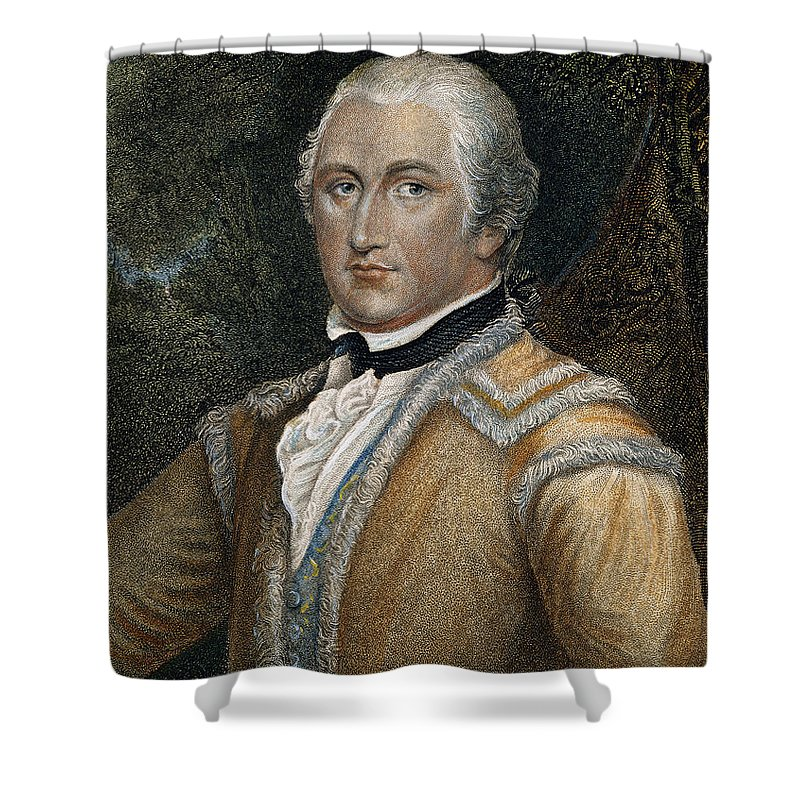 18th Century Shower Curtain featuring the photograph Daniel Morgan (1736-1802) by Granger