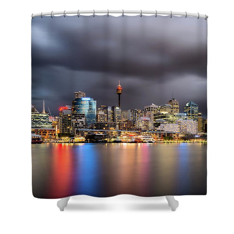 Outdoors Shower Curtain featuring the photograph Darling Harbour, Sydney - Australia by Atomiczen