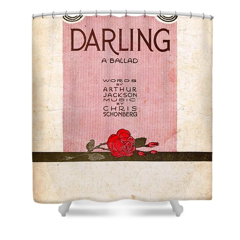 Nostalgia Shower Curtain featuring the photograph Darling by Mel Thompson
