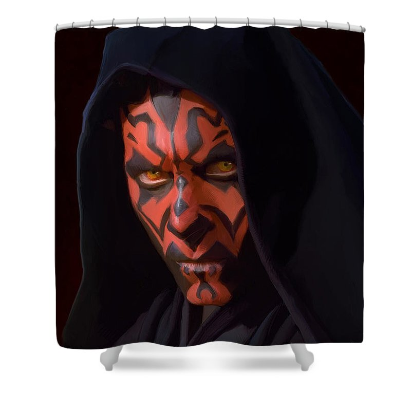 Empire Shower Curtain featuring the painting Darth Maul by Paul Tagliamonte