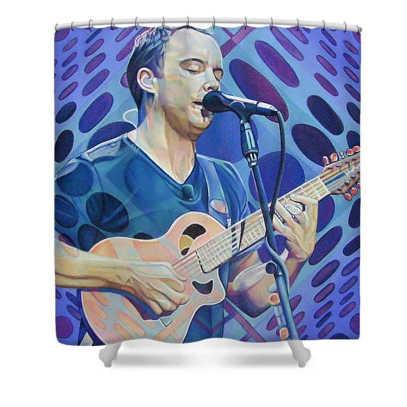 Dave Matthews Shower Curtain featuring the drawing Dave Matthews Pop-op Series by Joshua Morton