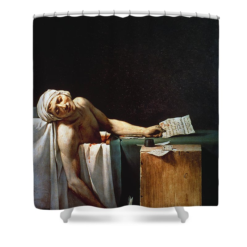 1793 Shower Curtain featuring the photograph David: The Death Of Marat by Granger