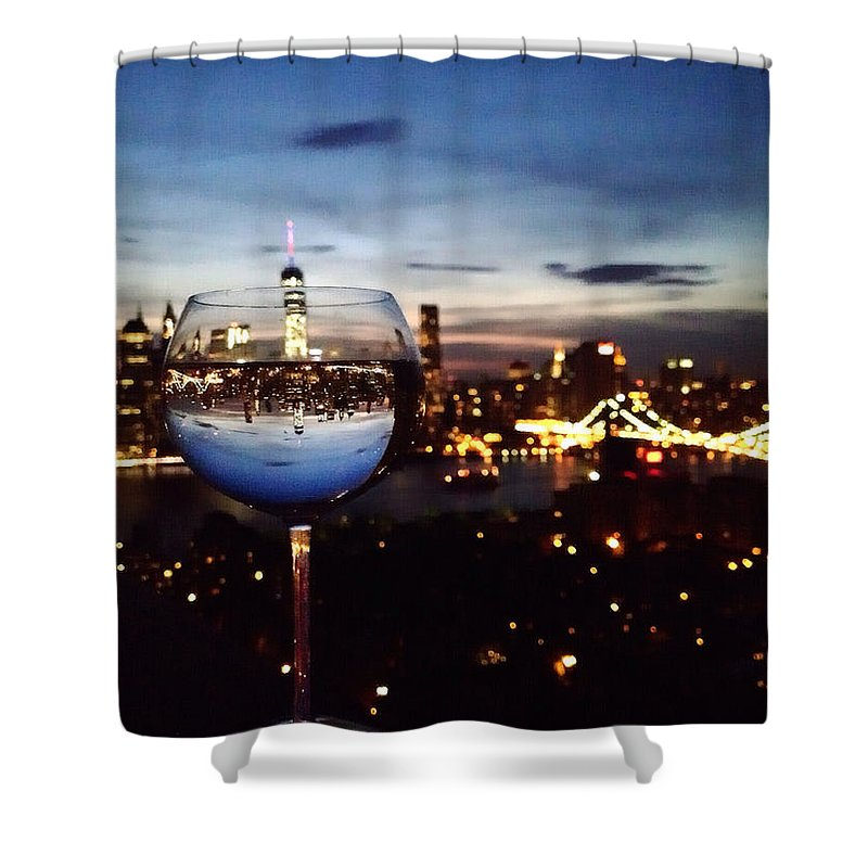 Skyline Shower Curtain featuring the photograph Dazzle ... Entertain ... Amaze by Natasha Marco