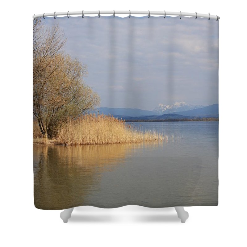Water Shower Curtain featuring the photograph Dead Silence by Christiane Schulze Art And Photography