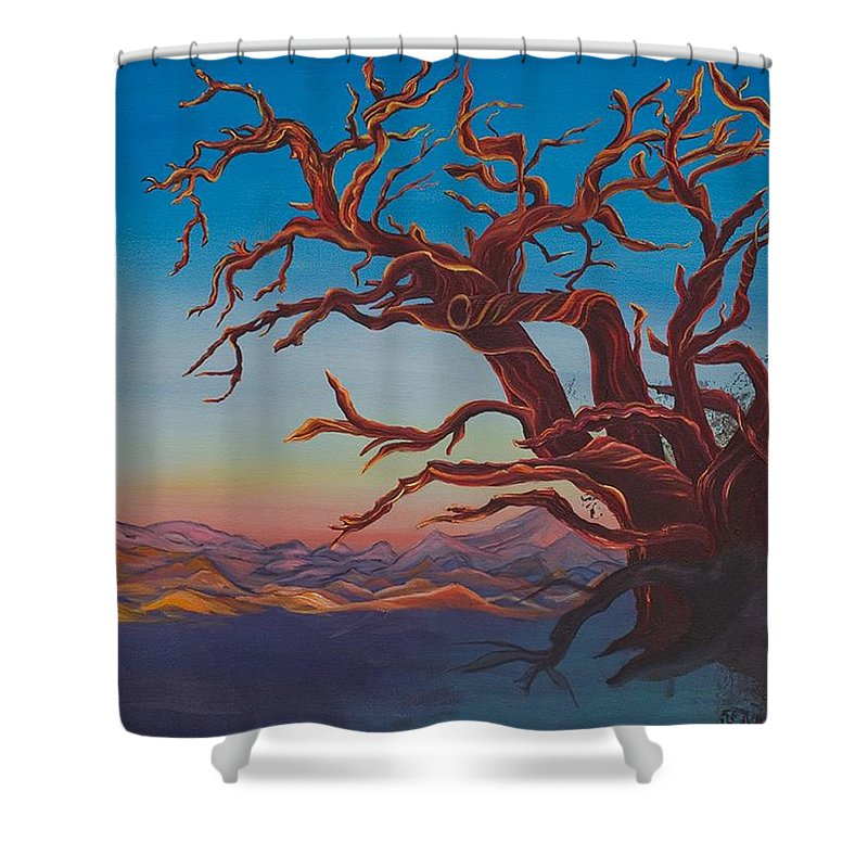 Bright Shower Curtain featuring the painting Still Life by Yolanda Raker