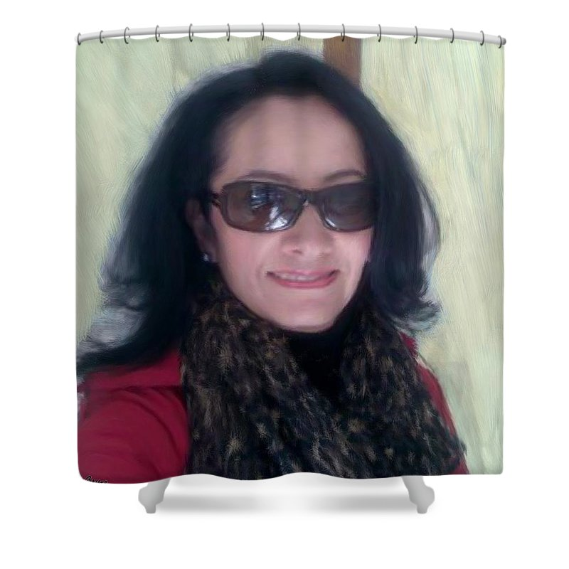 Spain Shower Curtain featuring the painting Dear Friend In Spain by Bruce Nutting