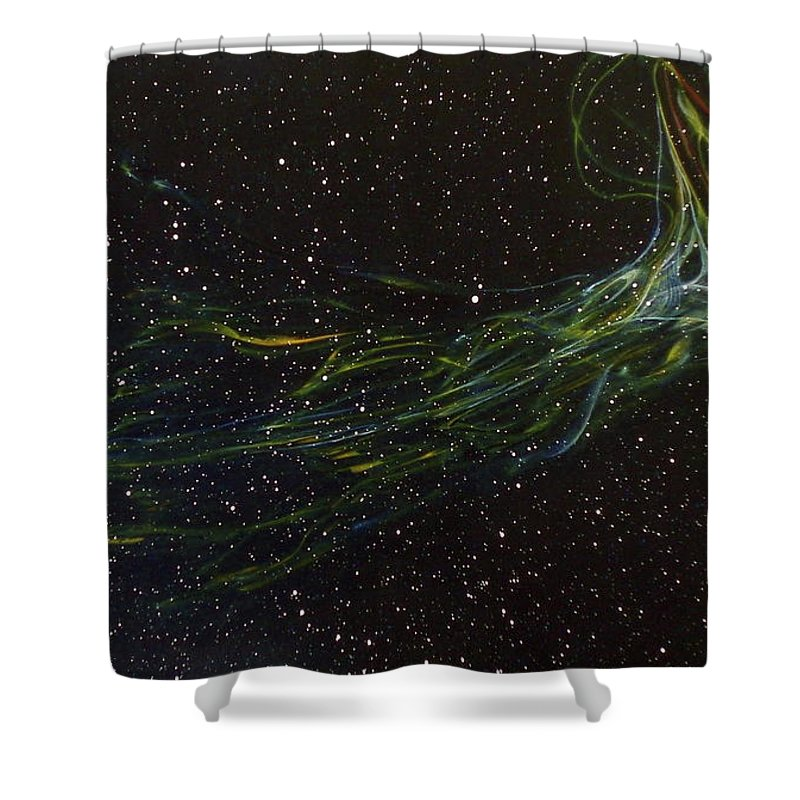 Abstract Shower Curtain featuring the painting Death Throes by Sean Connolly
