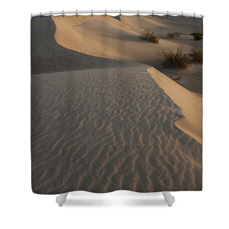 Death Valley Shower Curtain featuring the photograph Death Valley Mesquite Flat Sand Dunes Img 0181 by Greg Kluempers