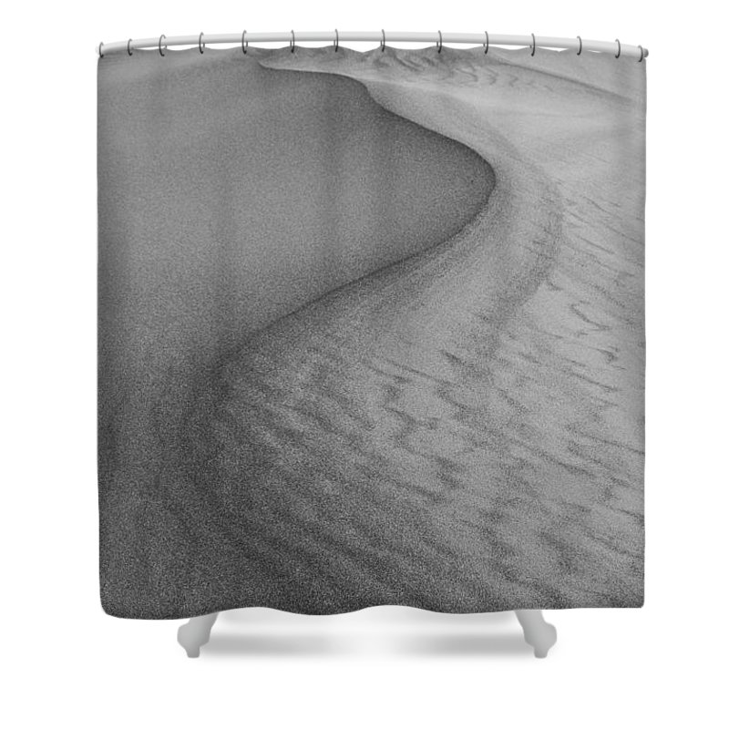 Abstract Shower Curtain featuring the photograph Death Valley Sand Dunes by Juli Scalzi
