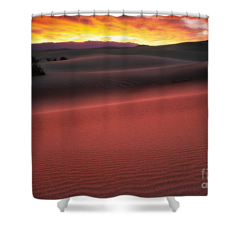 America Shower Curtain featuring the photograph Death Valley Sunrise by Inge Johnsson