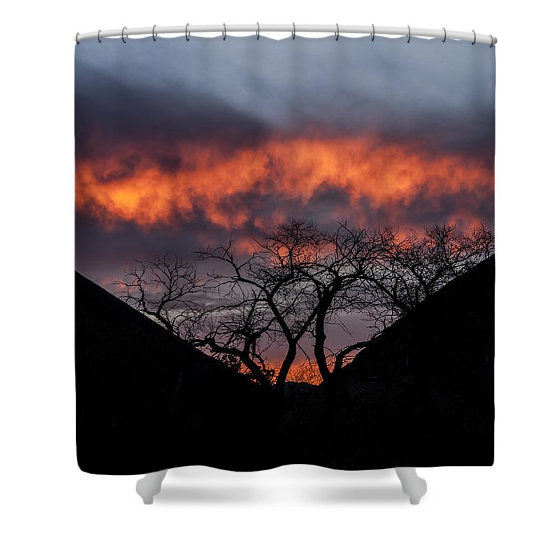 Desert Shower Curtain featuring the photograph Death Valley Sunset by Cat Connor