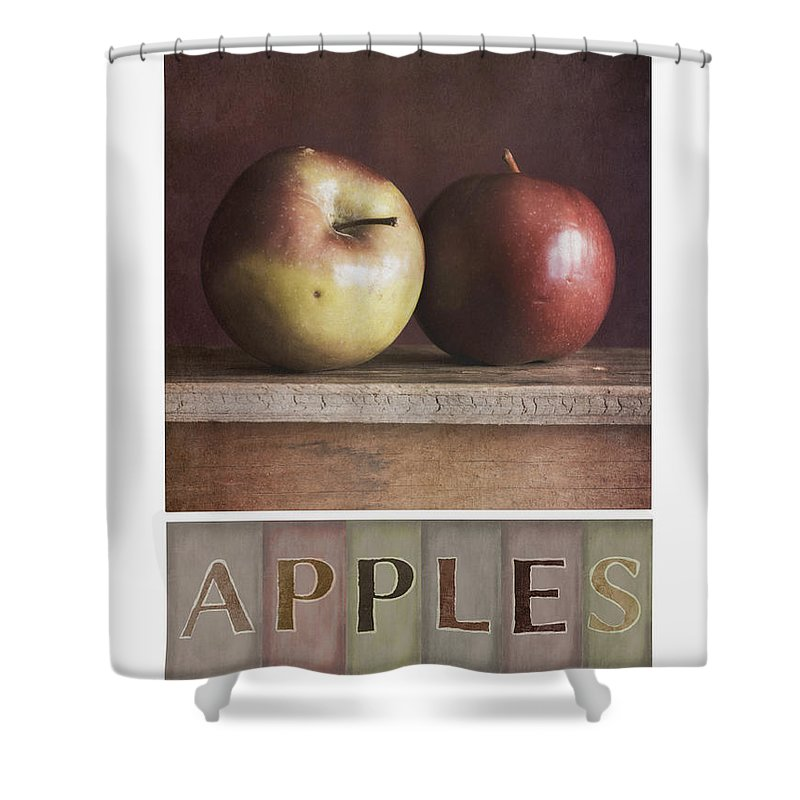 Apples Shower Curtain featuring the photograph Deco Apples by Priska Wettstein