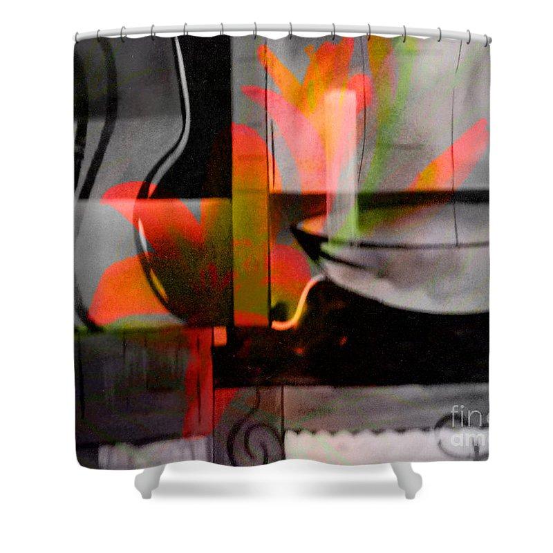 Digital Art Abstract Shower Curtain featuring the digital art Decorative Design by Yael VanGruber