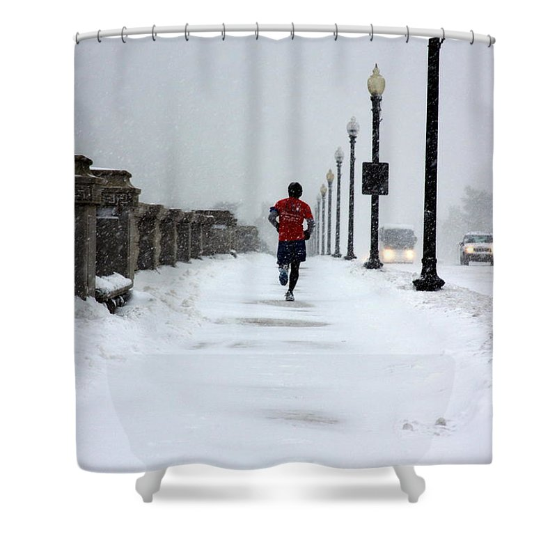 Running Shower Curtain featuring the photograph Dedication by Andrew Romer