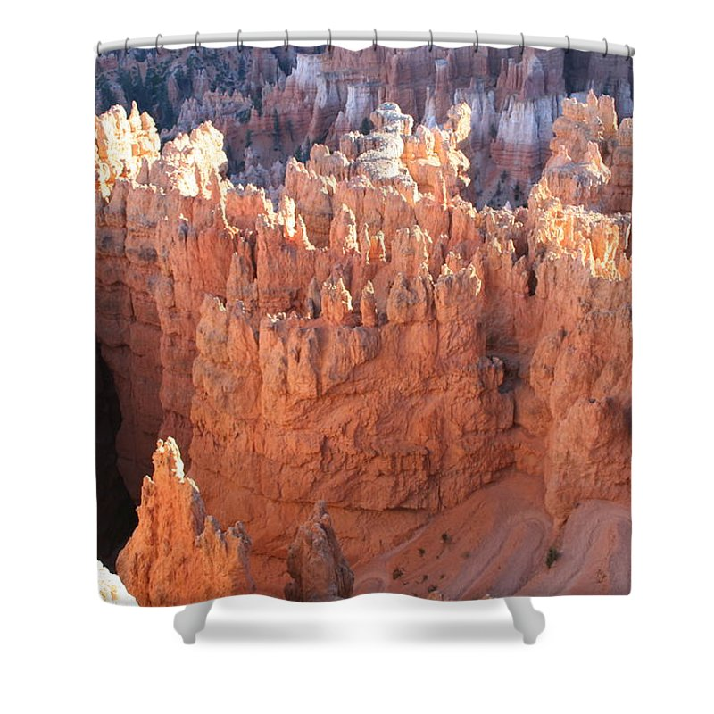Canyon Shower Curtain featuring the photograph Deep Canyon - Bryce Np by Christiane Schulze Art And Photography