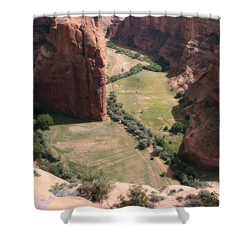 Canyon Shower Curtain featuring the photograph Deep Canyon de Chelly by Christiane Schulze Art And Photography