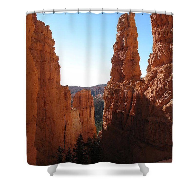 Canyon Shower Curtain featuring the photograph Deep Down - Bryce Canyon by Christiane Schulze Art And Photography