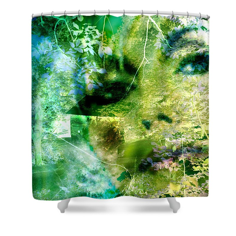 Deep Woods Wanderings Shower Curtain featuring the digital art Deep Woods Wanderings by Seth Weaver