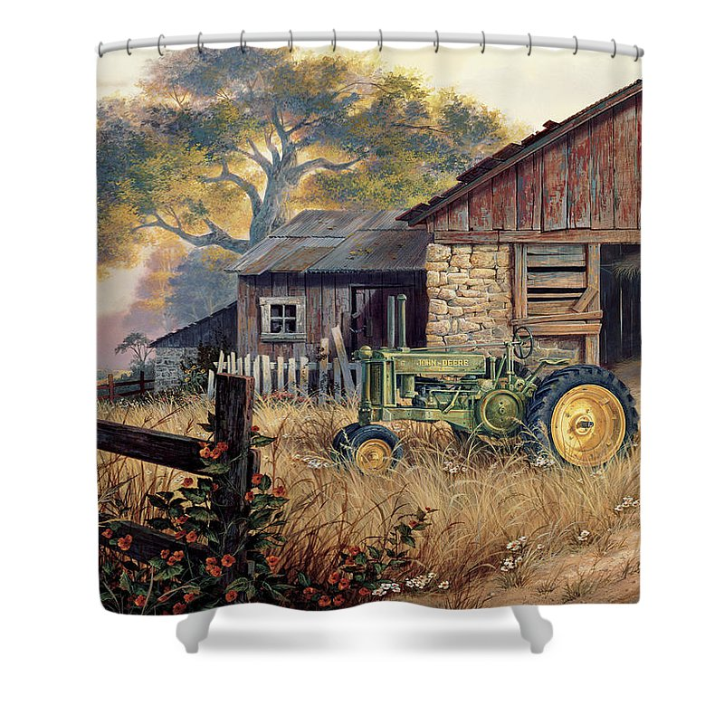 John Deere Shower Curtains