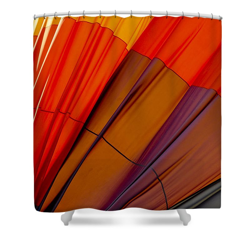 Napa Valley California Deflated Hot Air Balloon Balloons Still Life Shower Curtain featuring the photograph Deflated by Bob Phillips
