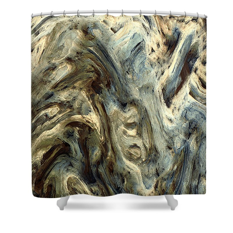 Fine Art Shower Curtain featuring the painting Deformation by Kevin Trow