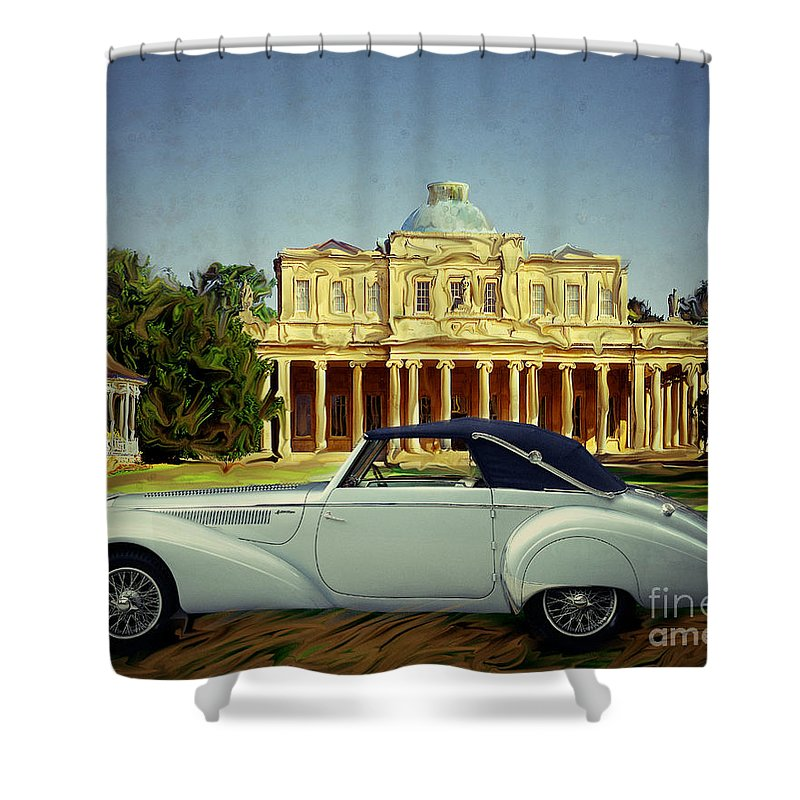 Oldtimer Shower Curtain featuring the photograph Delahaye 135-ms by Edmund Nagele