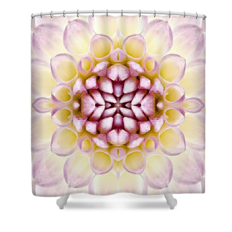 Flower Shower Curtain featuring the digital art Delighted by Tina Vaughn