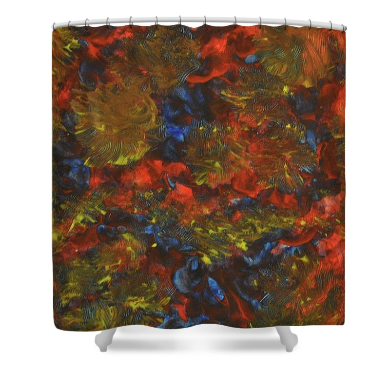 Recovery Shower Curtain featuring the painting Demons Of Rehabilitation by Colleen Gerlach