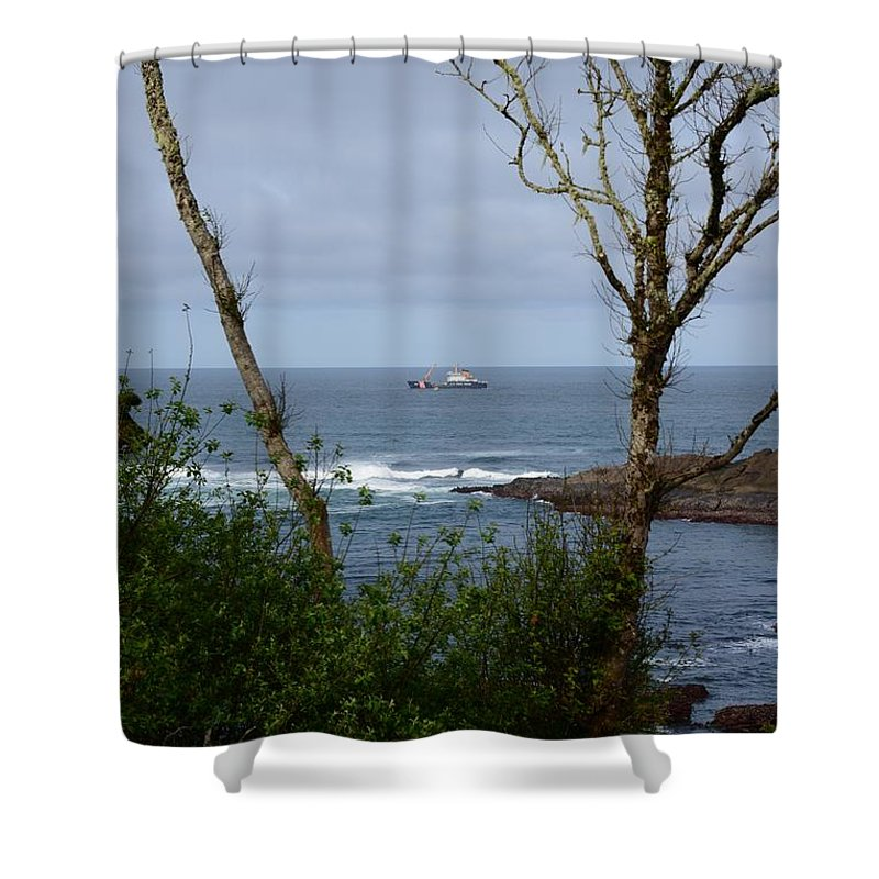 Depoe Bay Shower Curtain featuring the photograph Depoe Bay Oregon by Image Takers Photography LLC